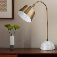 Threshold™ Brass Task Lamp with White Marble Base