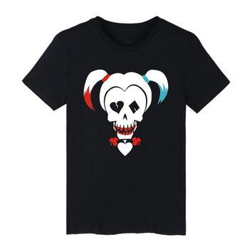 Suicide Squad Harley Quinn T-shirts Men Funny T Shirts Brand Cotton with Men TShirt Brand Famous in Cotton Tee Shirts  4XL