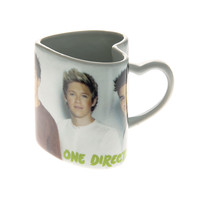 One Direction Heart Shaped Mug