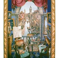 Venice Canals View from a Window Wall Tapestry 53L - 8158