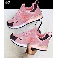 LV street fashion men and women color matching old flower sports running shoes #7