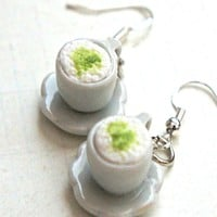 green tea latte earrings