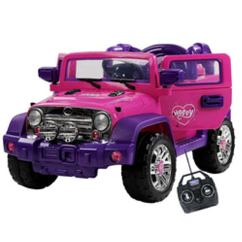 12v Girls Pink Jeep Ride with Opening Doors & Remote - £189.95 : Kids Electric Cars, Little Cars for Little People