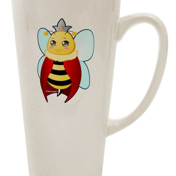 Queen Bee Mothers Day 16 Ounce Conical Latte Coffee Mug by TooLoud