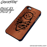 Owl Wood Case For Iphone 5/5S Case