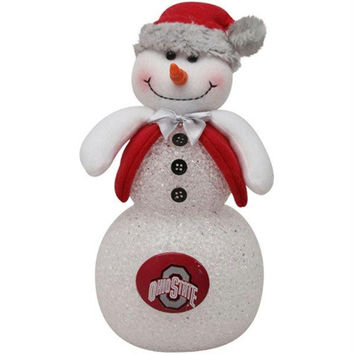 Lighted Snowman - Ohio State Buckeyes