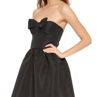 Strapless Bow Mini Dress