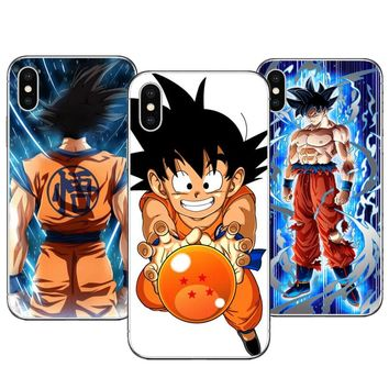 Cartoon Dragon Ball z super Goku Hard PC Phone Case Cover For iphone X 10 8 8Plus 7 7Plus 6 6S Plus 5S SE