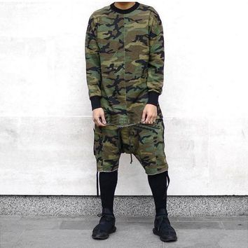 ca qiyif Long sleeve quality fashion men top tee camo
