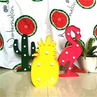 Marquee LED Lights Pineapple, Cactus, Flamingo