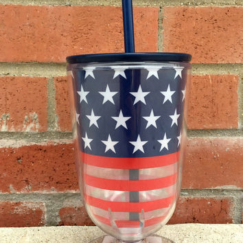 Stars and Stripes Iced Tea Cup