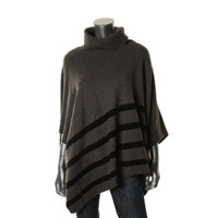 Eileen Fisher Womens Wool Blend Turtleneck Cape Sweater