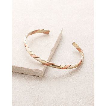 Twisted 3 Metal Healing Bangle