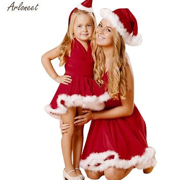 2017 FASHION Toddler Kid Baby Girl Christmas Clothes Bandge Sleeveless Pageant Party Xmas Dress Y110130