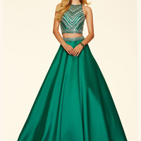 Two Piece Paparazzi Prom Dress 98044