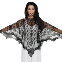 Poncho Lace Vampire for Halloween