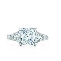 Tiffany & Co. | Engagement Rings | Lucida® with Diamond Band | United States
