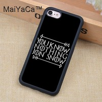 Jon Snow Printed Phone case For iPhone 6 6s Soft TPU Full Protective Cover For iPhone 6 6s Cases Coque