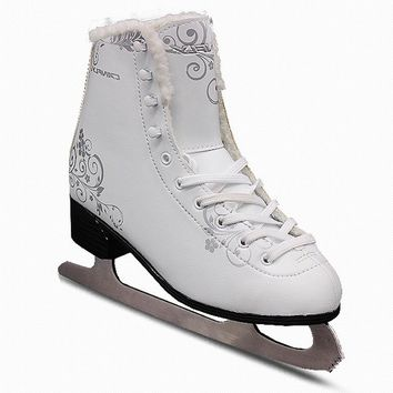 2018 New Adult Kids Children Professional Thermal Warm Thicken Figure Skating Ice Skates Shoes With Blade PVC Waterproof White