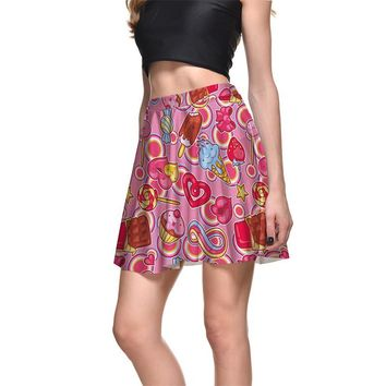 New Lovely Women Sexy Pleated Skirts Tennis Bowling Bust Shorts Skirts Slim Ice Cream Female Fitness Sport Apparel A Style S-4XL