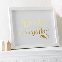 'Naps Fix Everything' Foil Print