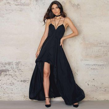 Sleeveless Spaghetti Long Dress