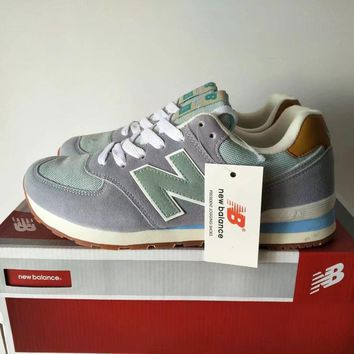 New Balance 574 Women Sport Casual Multicolor N Words Sneakers Running Shoes-1