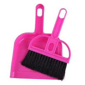 Mini Cleaning Tools Plastic Broom Sweeper Brush Set Pretend Play Educational Cleaning Toy Gift for Baby Kids Children