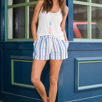 To Beach Or Not To Beach Shorts, Blue-Gray