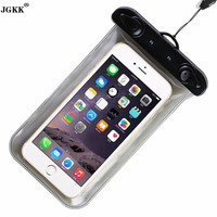 JGKK For iPhone 6 6s 7 7Plus Waterproof Mobile Bag Case Pouch For Samsung S7 Universal Sealed Bags Cover 100% waterproof