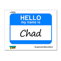 Chad Hello My Name Is Sticker