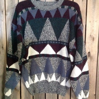 "Vintage ""ugly""  fall and winter sweater size medium"