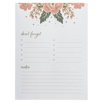 Flower Border Large Notepad