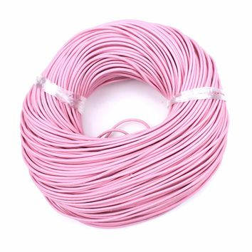 2yard/bag 2mm Diameter  Round Genuine Real Leather Jewelry Rope String Nature Cord For Bracelet Necklace DIY Jewelry Findings