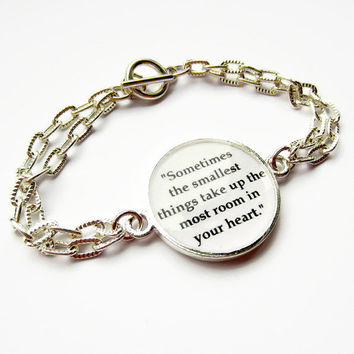 Resin Quotation Bracelet - Inspirational Quote Jewelry - Winnie the Pooh Bracelet - Literature Resin Jewelry - New Mother Bracelet