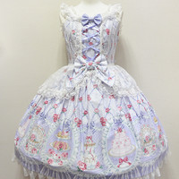 Salon de the Rose Jumperskirt - Lavender [152PJ2-2935-lv] - $312.00 : Angelic Pretty USA