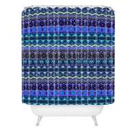 Sharon Turner Kilim Castellations Shower Curtain