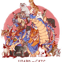 HOARD OF CATS PRINT