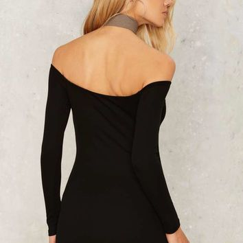 Nasty Gal Itty Bitty Off-the-Shoulder Dress