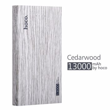 HOCO 13000mAh Ultra-thin External Power Bank Mobile Battery Pack Powerbank Fast Charger for Phones with Large Capacity