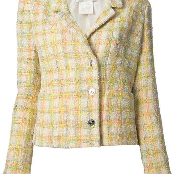 Chanel Vintage checked bouclé jacket
