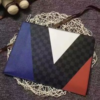 Lv Louis Vuitton Damier Cobalt Canvas Zipper Hand Bag