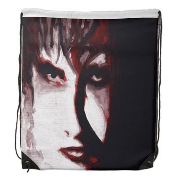 Gothic God Post Punk Goth Original Art Backpack