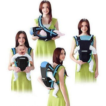 4-in-1 Front Facing Baby Sling Carrier Kangaroo Pouch