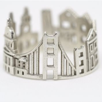 San Francisco Cityscape Statement Ring