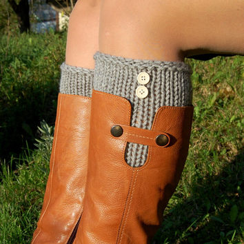 Knitted Boot Cuffs, Hand knit Boot Cuffs, Boot Toppers, Handmade, Wool Boot Cuffs,Womens Boot Cuffs, Leg warmer, Womens Boots Socks