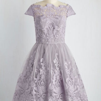 Exquisite Elegance Dress in Lavender | Mod Retro Vintage Dresses | ModCloth.com
