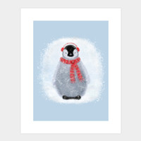Chilly Little Penguin Art Print By Noondaydesign Design By Humans