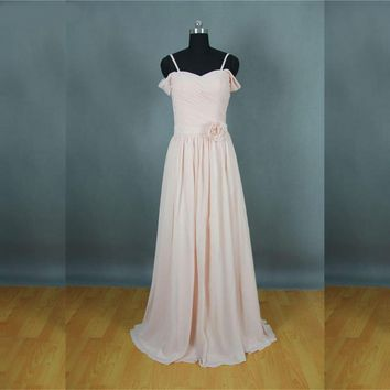 Wedding Event Dress Blush Pink Bridesmaid Dresses Corset Back Lace Up Maid Of Honor Dresses