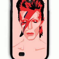 Samsung Galaxy S4 Case - Rubber (TPU) Cover with Ziggy Stardust David Bowie Rubber Case Design